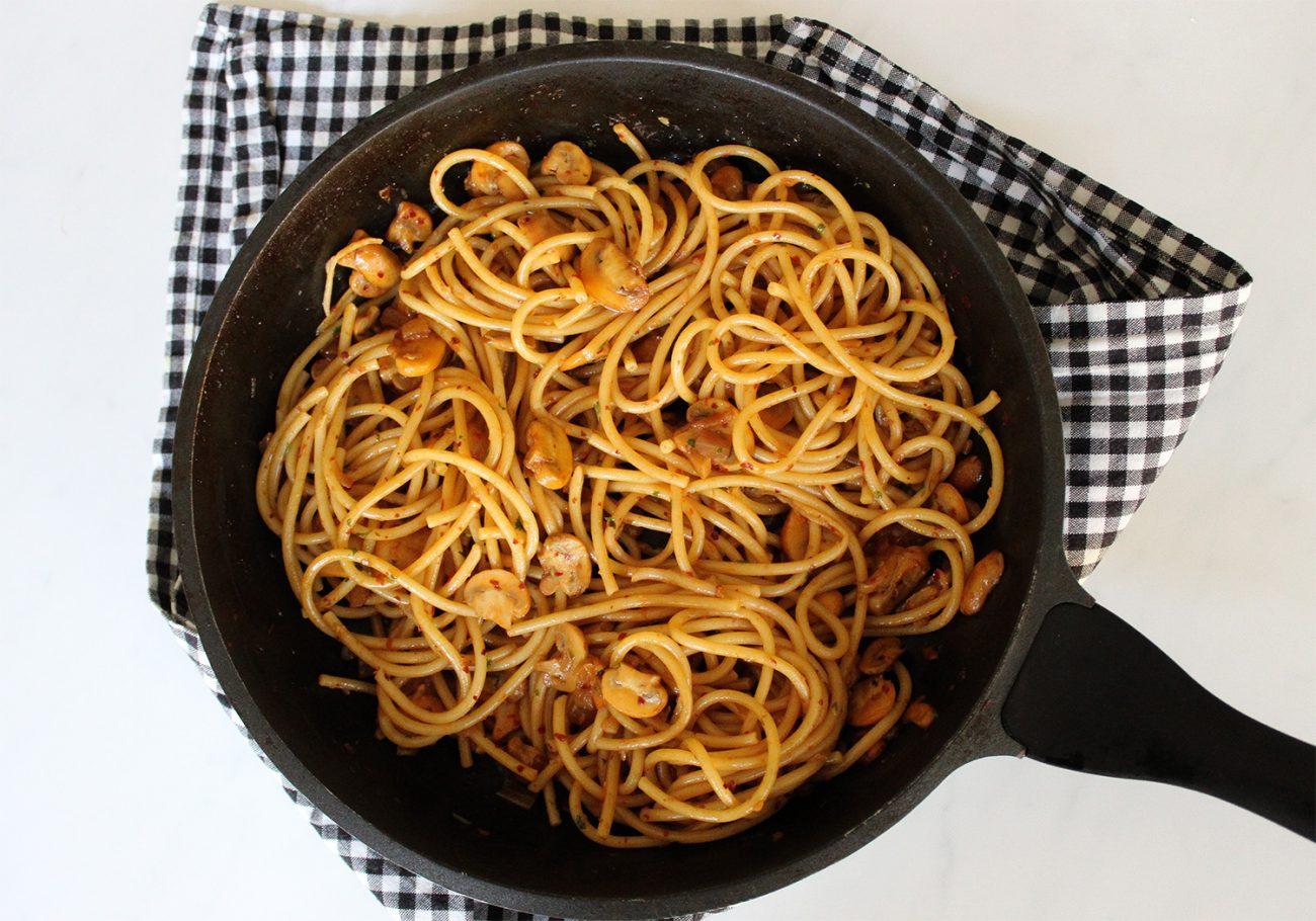 Easy mushroom pasta