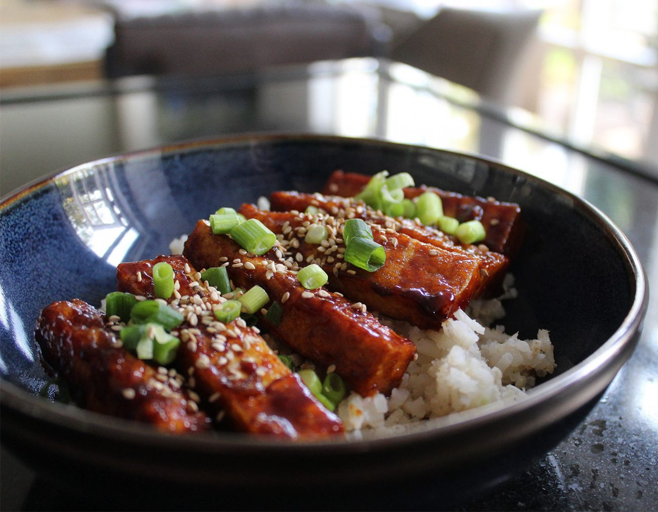 Sticky tofu with rice