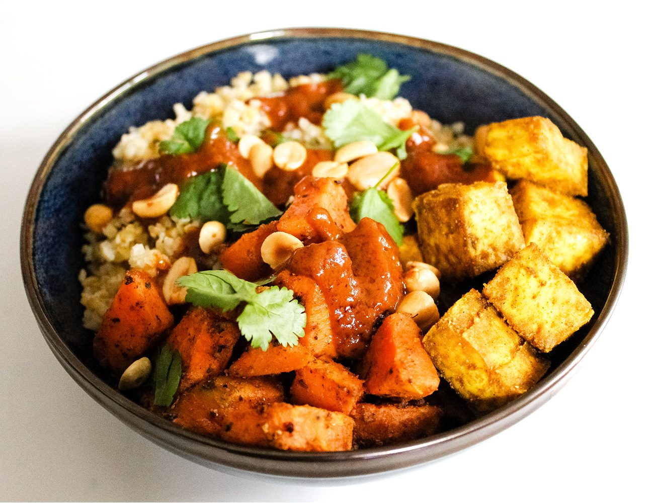 Bulgur and sweet potato bowl