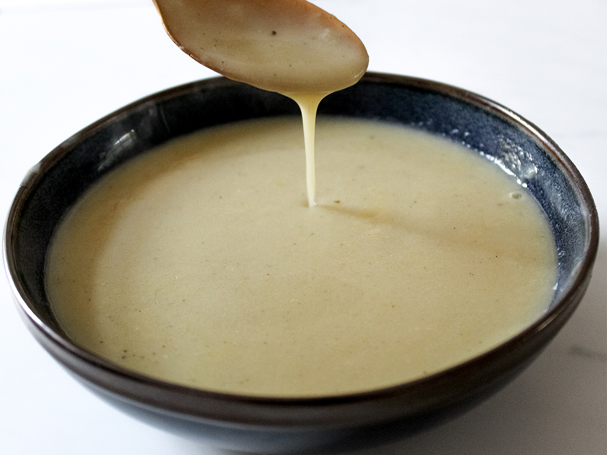 Homemade garlic soup