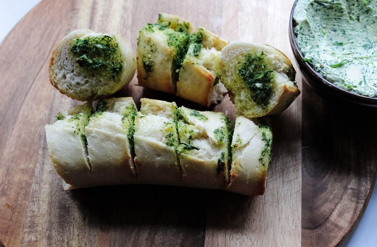 Easy vegan garlic bread