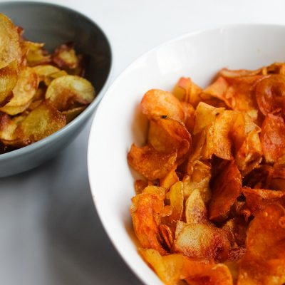 homemade potato crisps