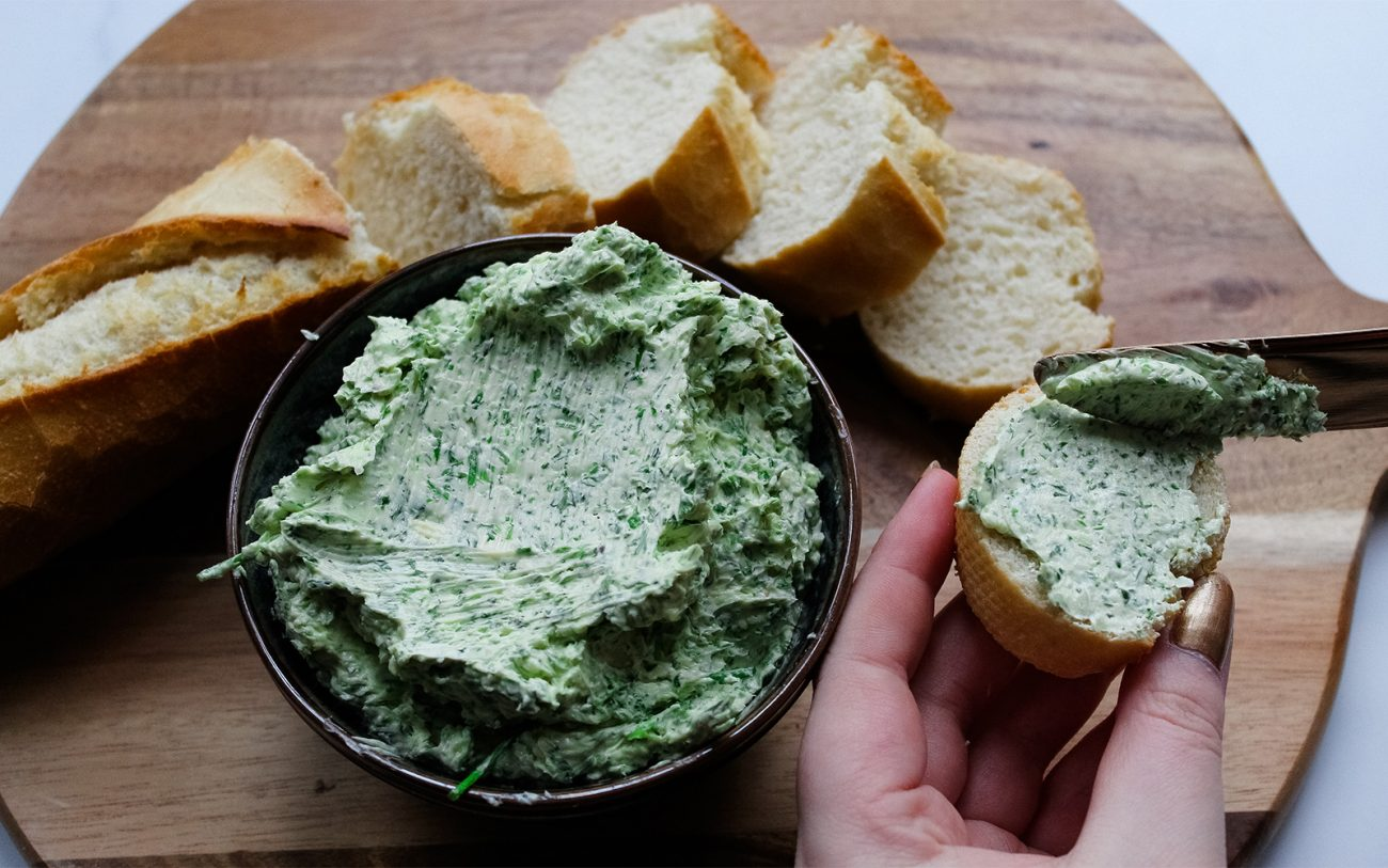Vegan herb butter