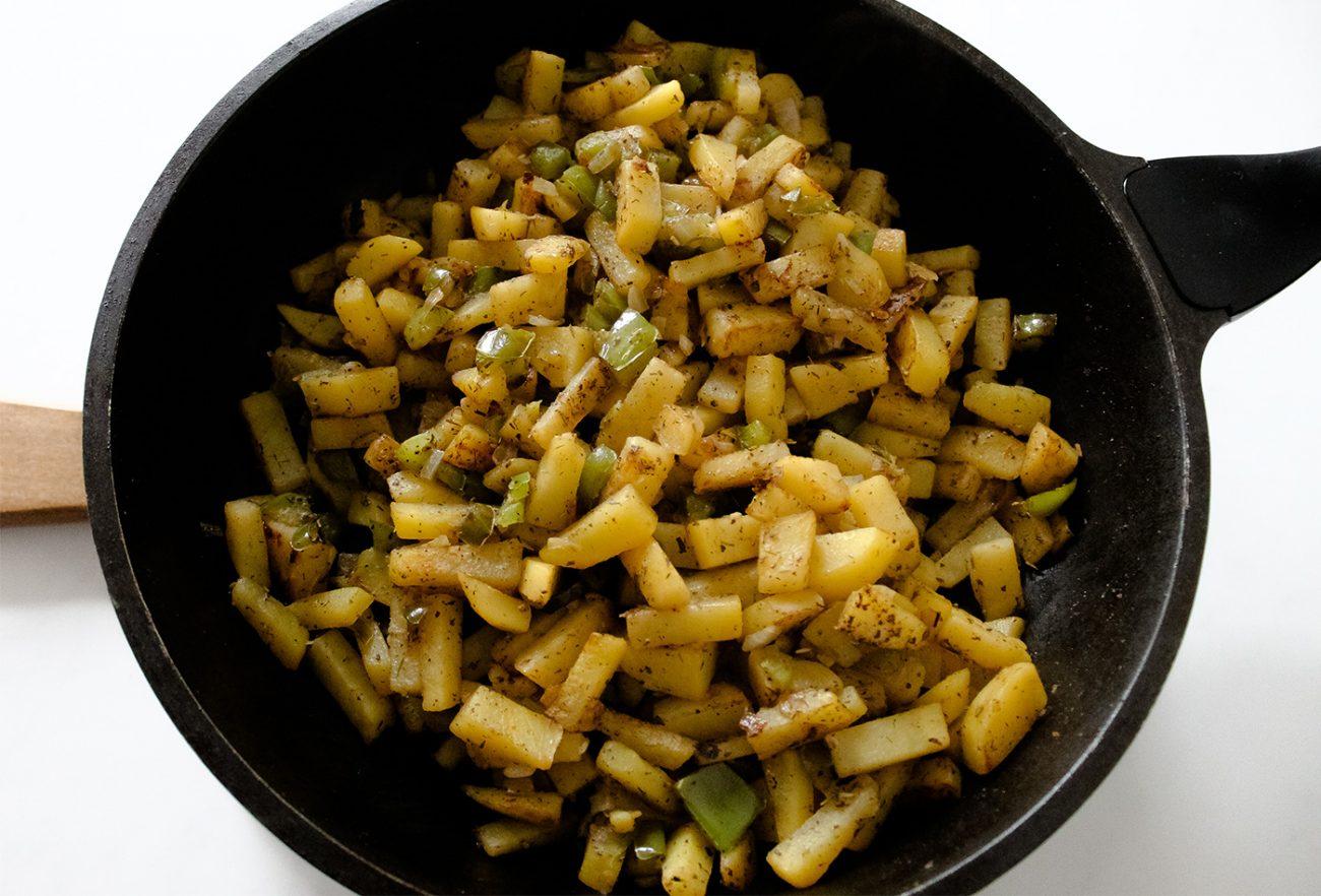 Vegan potato hash