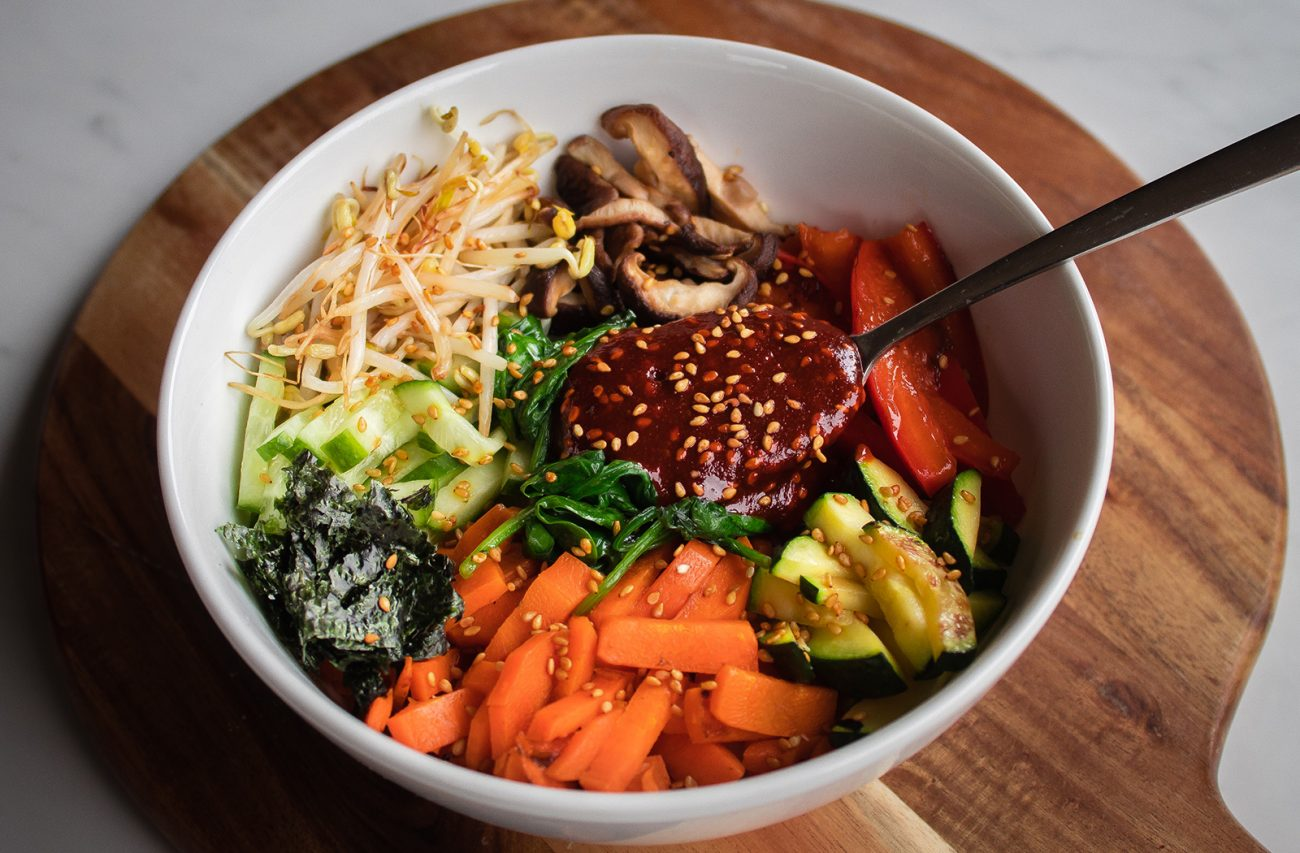 Vegan Korean Bibimbap Vegan Recipe Eating Vegan With Me