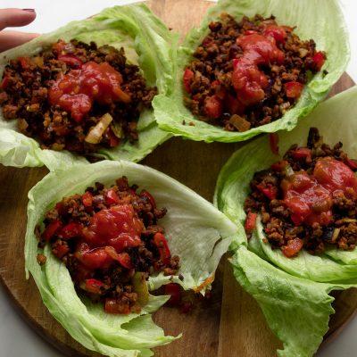 vegan lettuce cup tacos