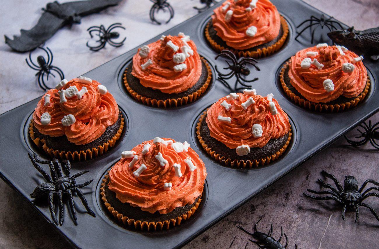 Spooky Vegan Halloween Cupcakes