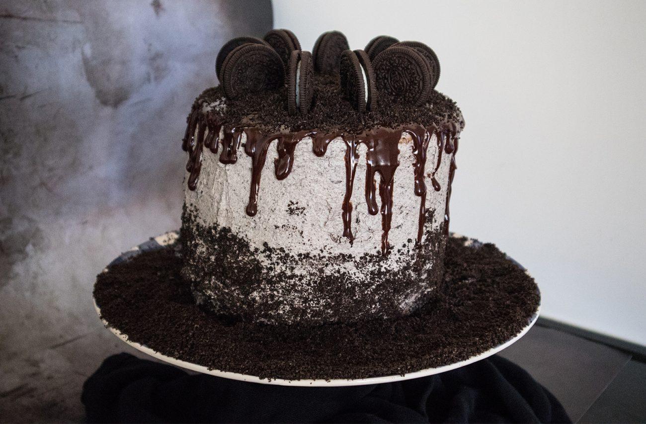 Oreo drip cake (vegan)