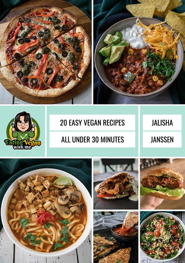 easy vegan recipes all under 30 minutes (e-book)
