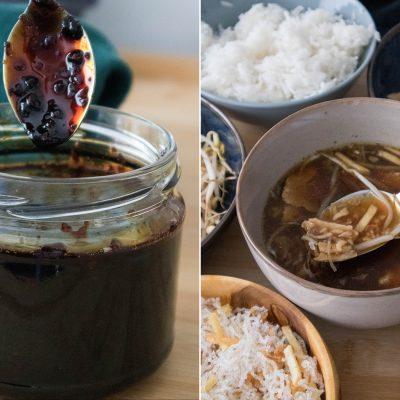 vegan soto ayam with sambal kecap