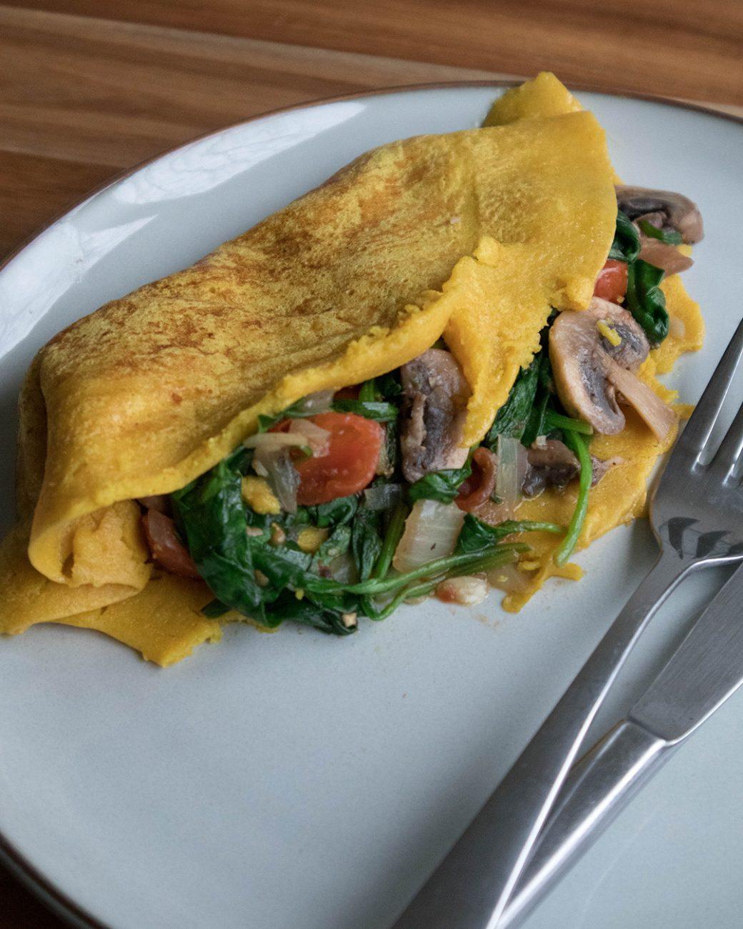 Besan chilla (chickpea omelette)