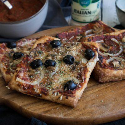vegan puff pastry pizza